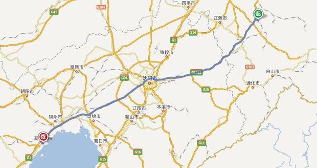 吉林省磐石市去往辽宁省葫芦岛市的高速怎么走