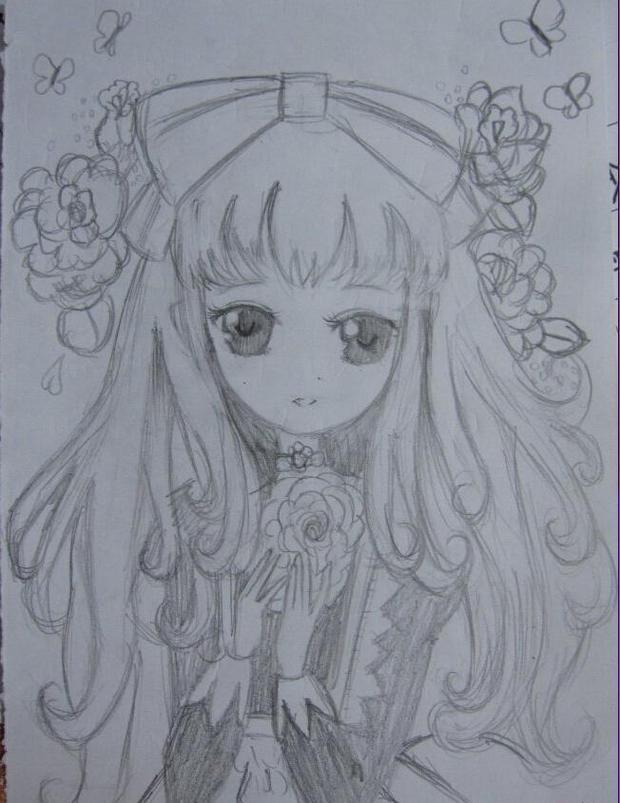 如何绘画小公主图片