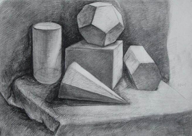 《素描石膏几何体》由魏玉强所著,这是一本素描画法的入门书。素描是一切造型艺术的基础,而石膏几何体写生又是素描入门的第一步。通过对几何体的研究,便于初学者理解物体的形体结构,理解物体块面的明暗变化原理,并熟练地掌握如何在平面上表现出形体的空间感。这一素描造型的基本规律,实际上贯串于世界上一切形体中间。初学者由此入门,才是通往艺术殿堂的真正捷径。