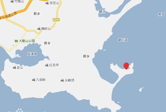 汕尾风车岛地图位置
