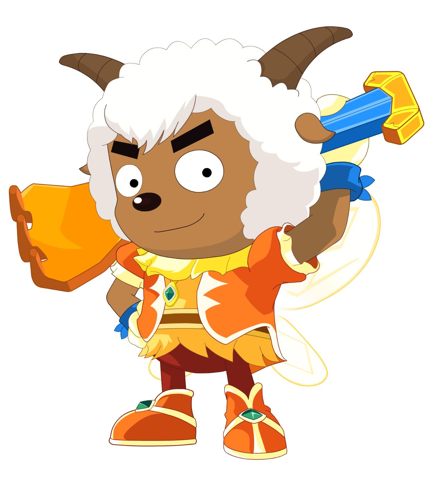 喜欢美羊羊,无论美羊羊有什么不顺心的事或遇到危险,沸羊羊总是站在头