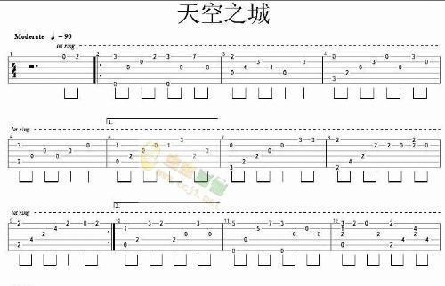 最简单的吉他弹唱谱