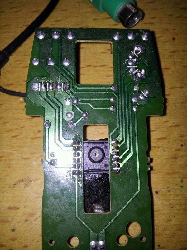 电路板线断了没有焊笔_激光笔电路板