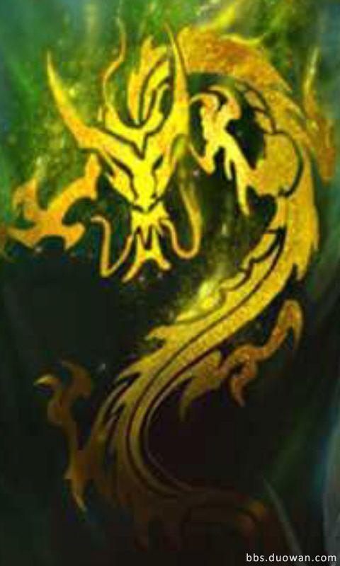 求一个英雄联盟盲僧龙的传人皮肤背后的金龙素材,万分图片