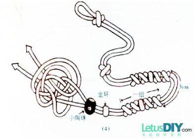 用彩绳编手链的编法 最好有图