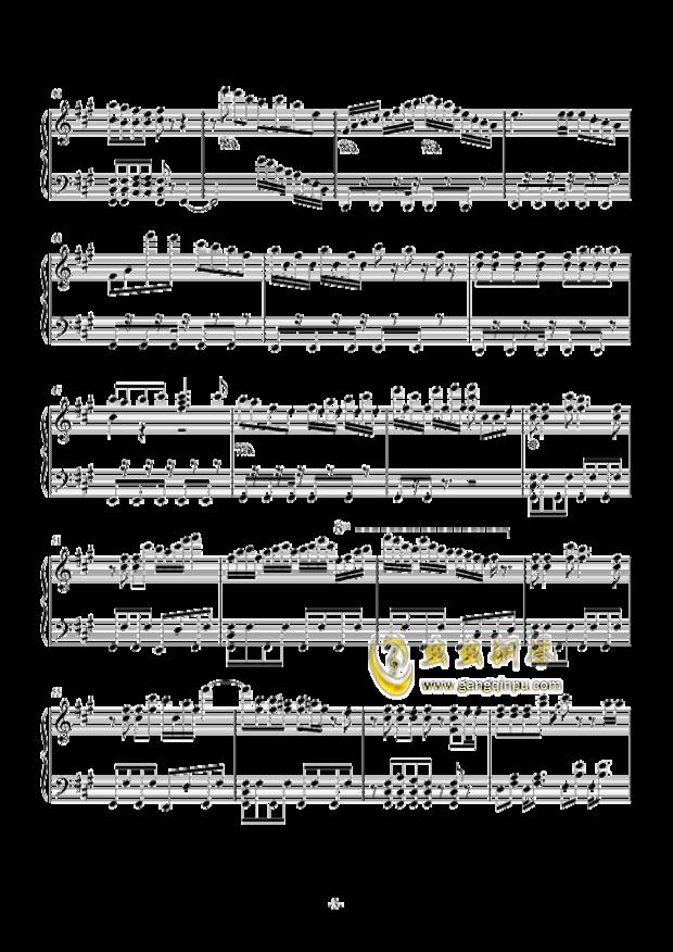 极乐净土五线谱吉他谱