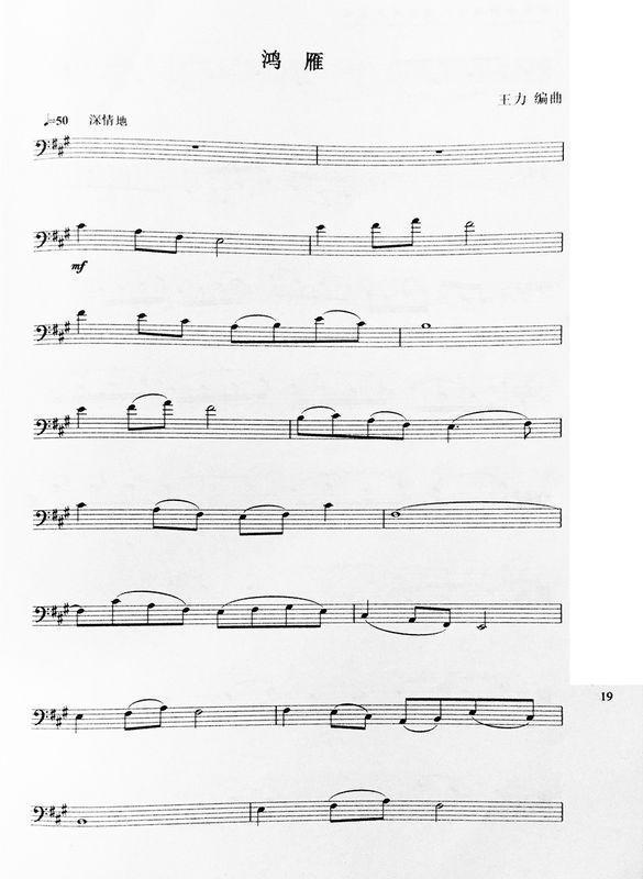 大提琴 鸿雁