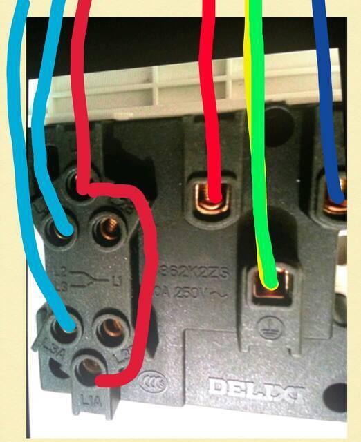 家庭装修遇到插座安装问题.德力西的双开双控插座.