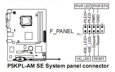 这款主板为9针接线方式:接线示意图如下