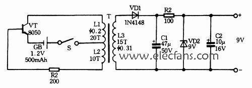 求直流5v转换为12v交流电路图?转换为9v交流也行,电路
